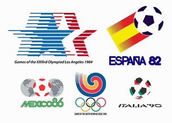 Logotipos de mundiales y olimpiadas
